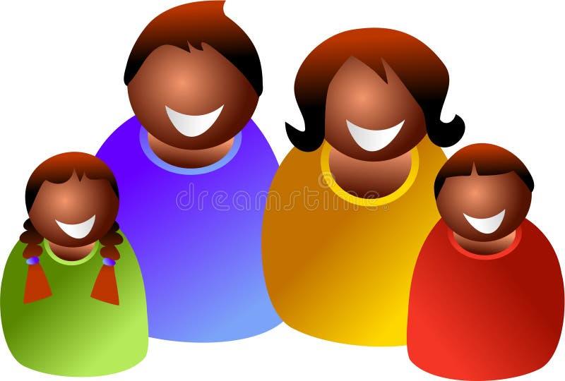 Familia étnica libre illustration