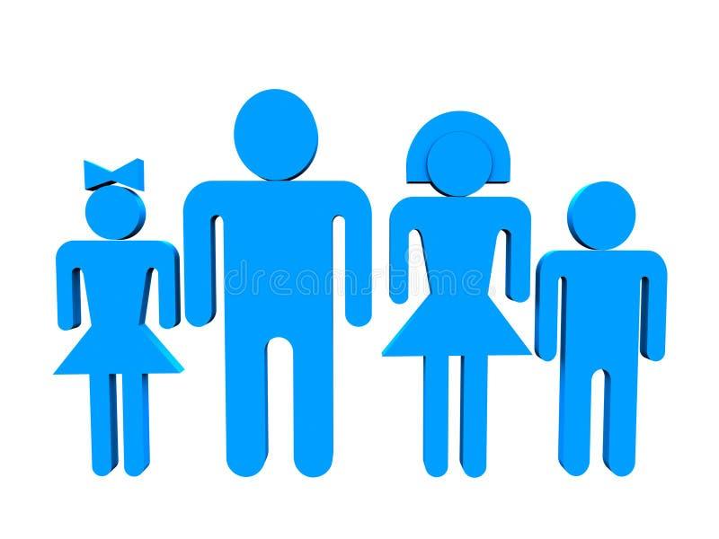 familia 3d ilustración del vector