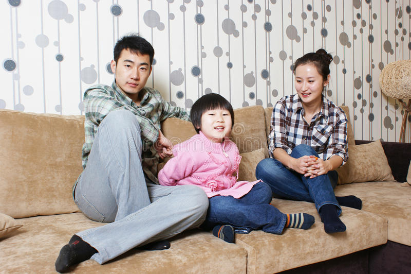 Familia alegre imagenes de archivo