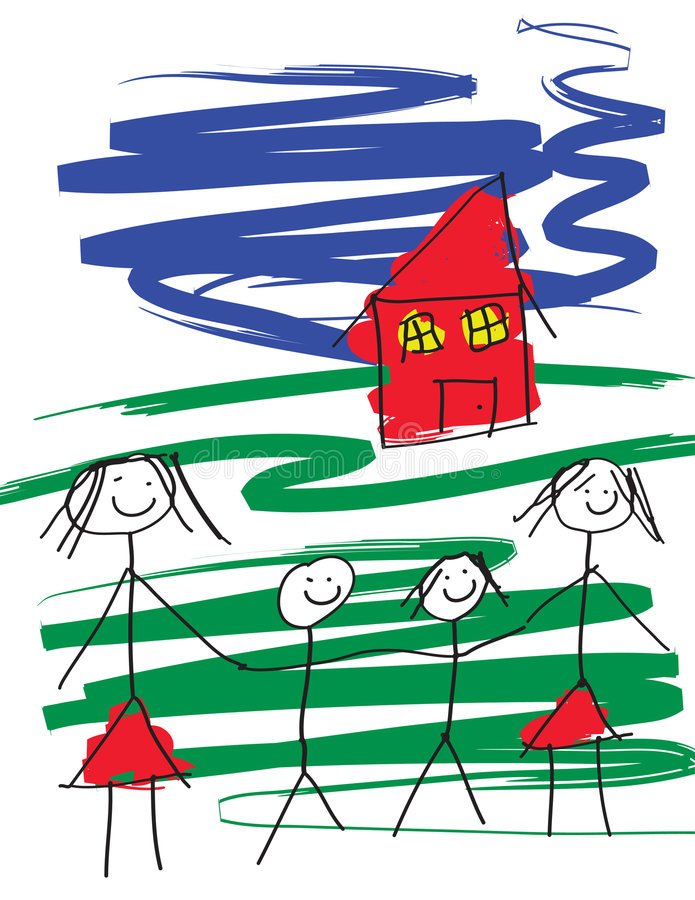 Familia alegre ilustración del vector