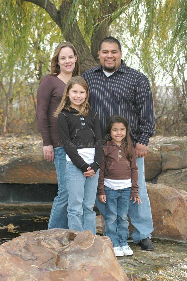 Familia americana fotografía de archivo