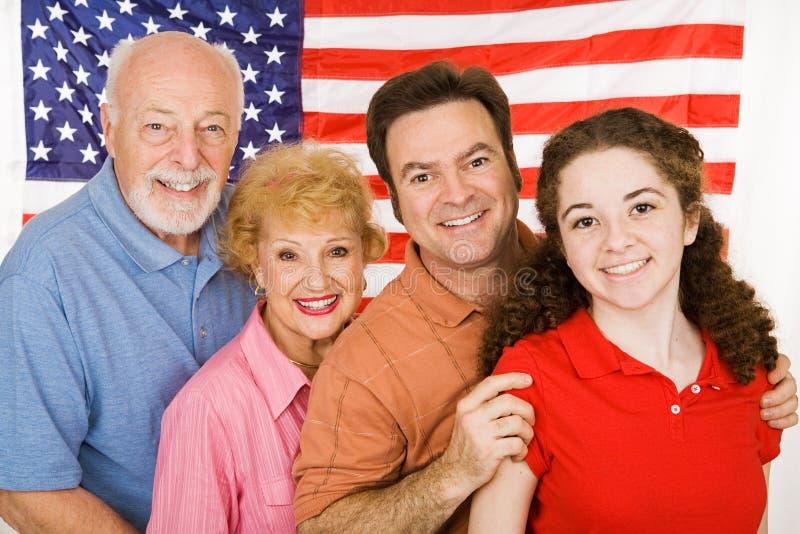Familia americana fotos de archivo libres de regalías