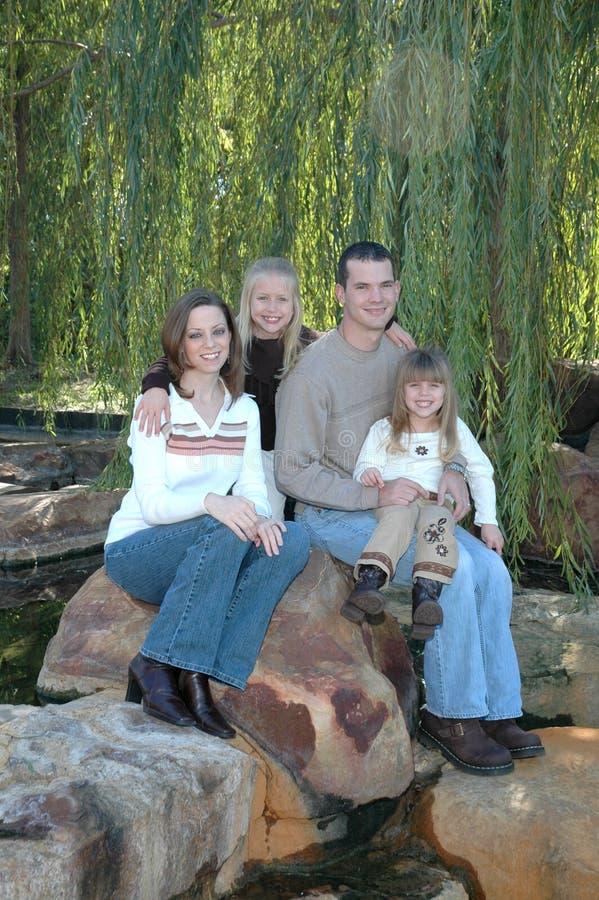 Familia americana exterior fotos de archivo