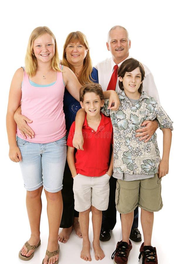 Familia americana típica fotos de archivo libres de regalías