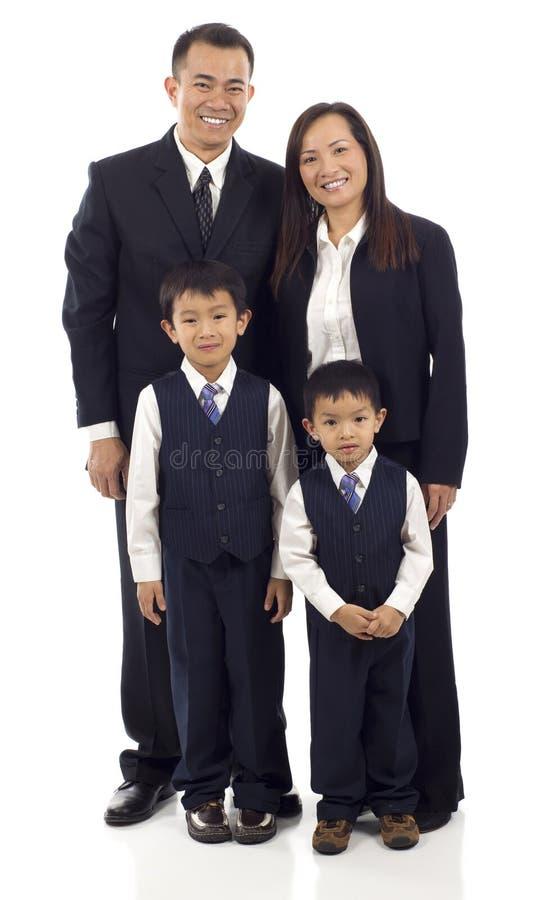 Familia asiática foto de archivo