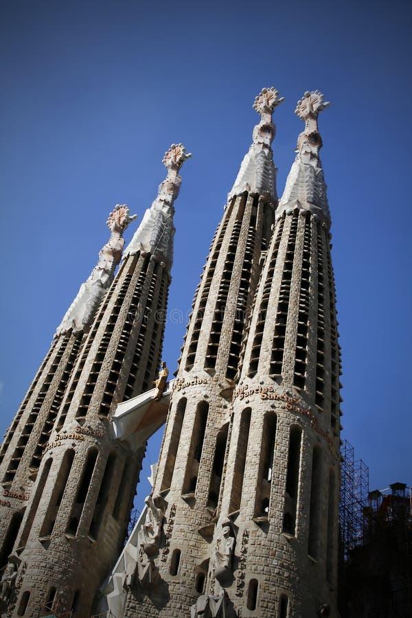 Familia Barcelona de sagrada do La imagem de stock