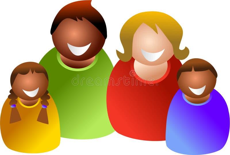 Familia colorida stock de ilustración