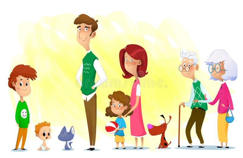 Familia completa libre illustration