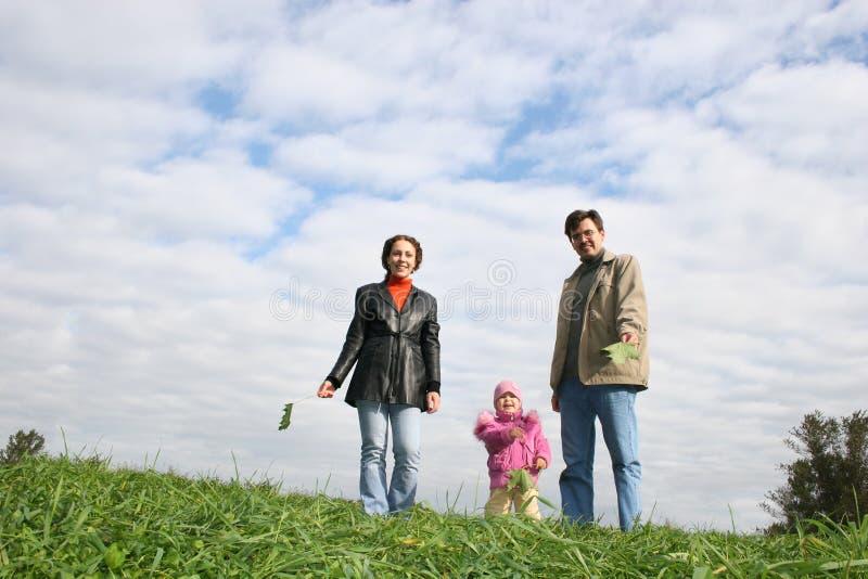 Familia con el bebé foto de archivo libre de regalías