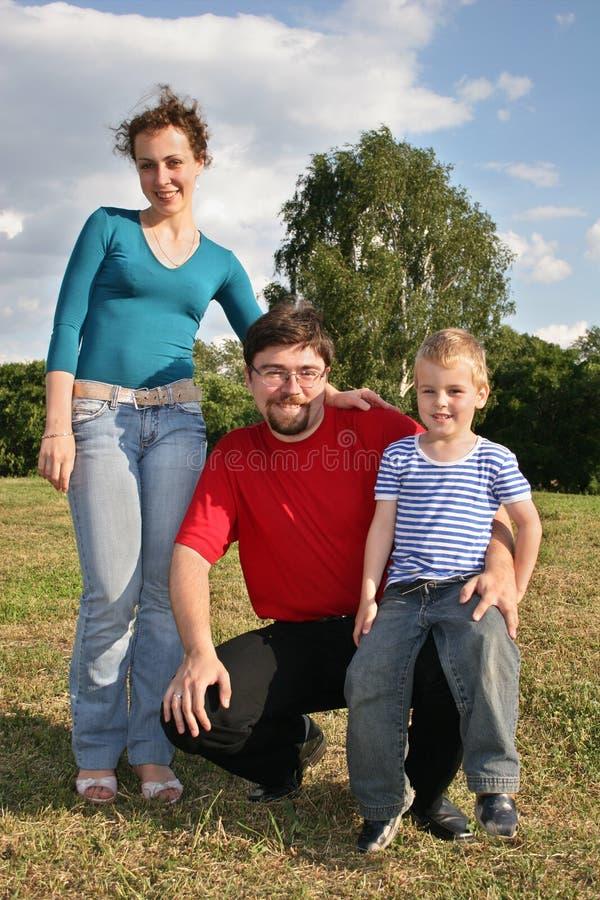 Familia con el hijo fotografía de archivo libre de regalías