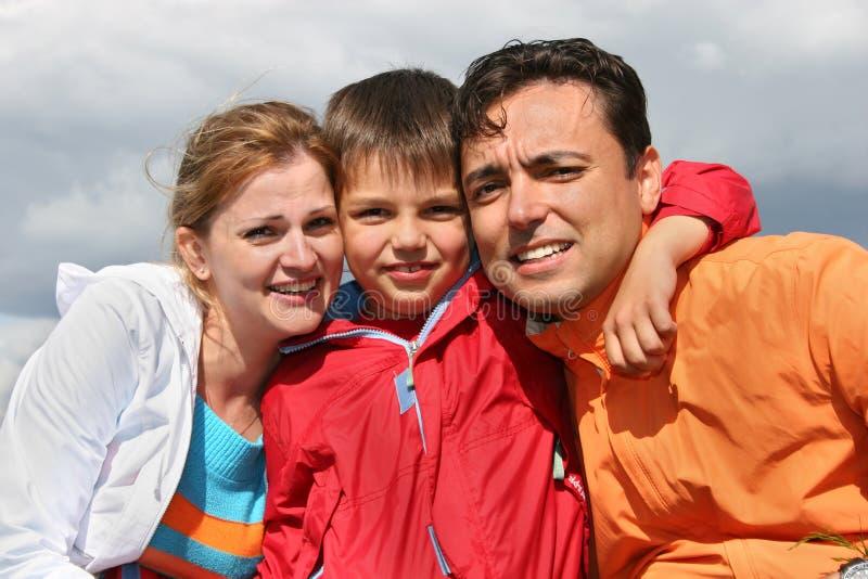 Familia con el muchacho fotos de archivo libres de regalías