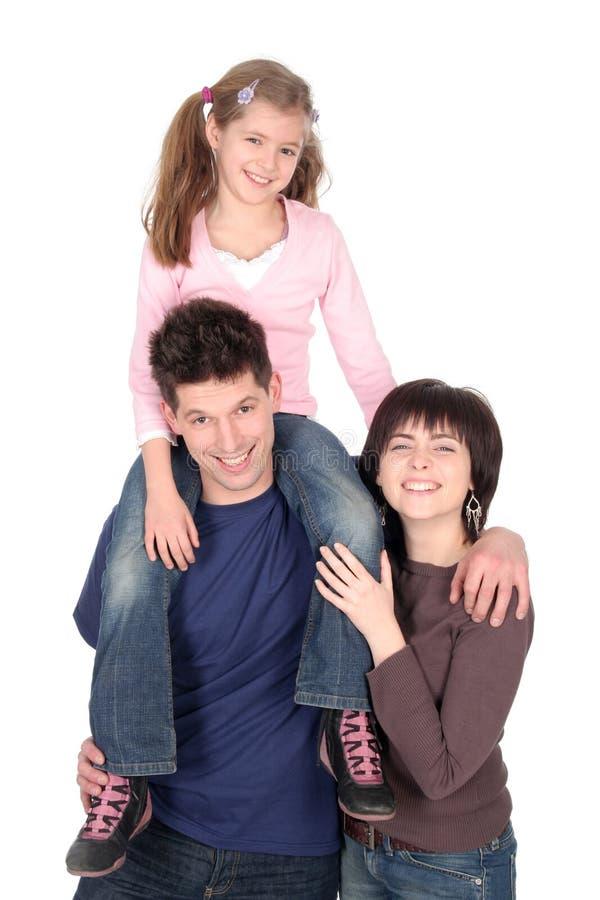 Familia con la hija foto de archivo
