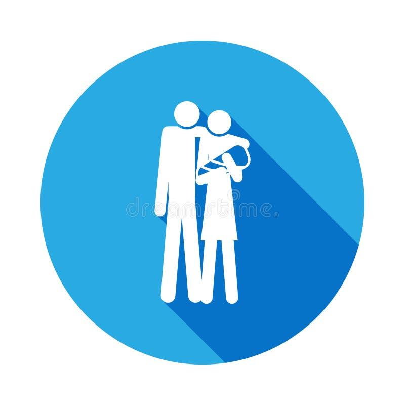 familia con un icono del bebé Elemento del ejemplo casado vida de la gente Muestras e icono para los sitios web, diseño web de la ilustración del vector