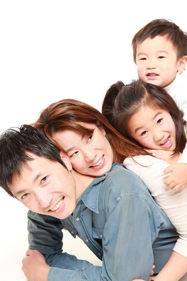 Familia de cuatro miembros japonesa fotos de archivo libres de regalías