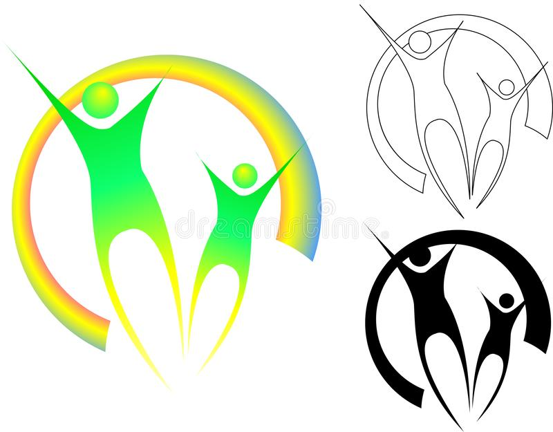Familia de la abstracción en varias versiones libre illustration