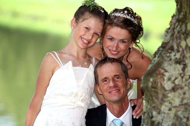 Familia de la boda imagenes de archivo