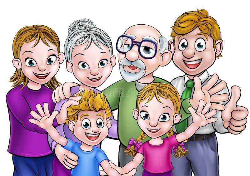 Familia de la historieta stock de ilustración