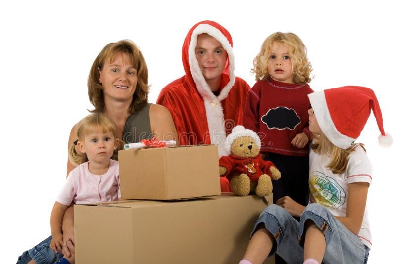 Familia de la Navidad foto de archivo libre de regalías