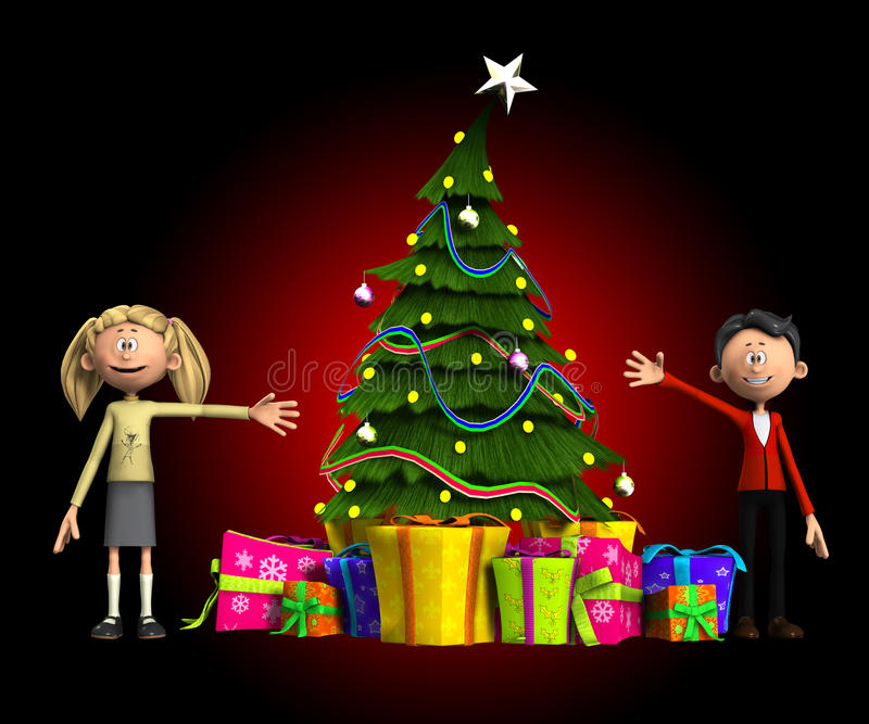 Familia de la Navidad stock de ilustración