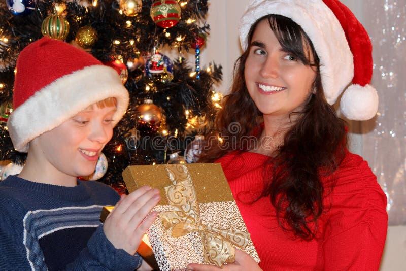 Familia de la Navidad fotos de archivo