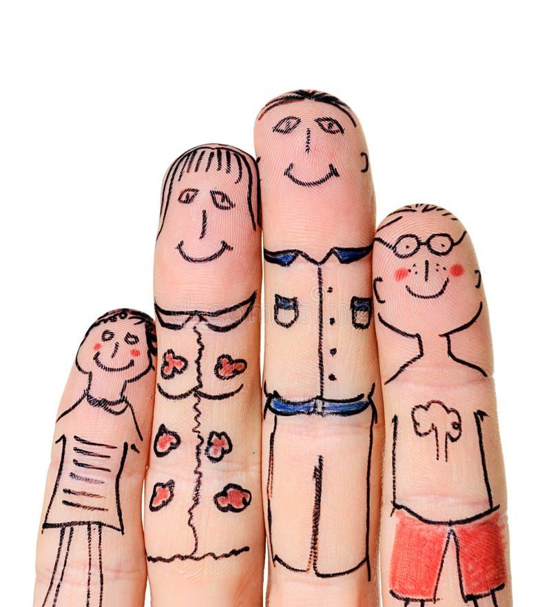 Familia de los dedos imágenes de archivo libres de regalías