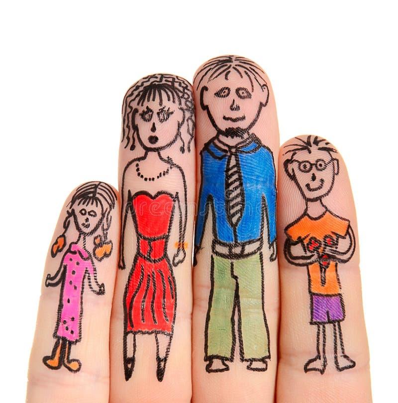 Familia de los dedos fotos de archivo