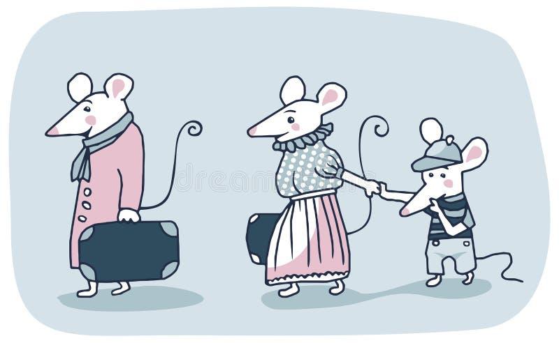 Familia de los ratones stock de ilustración