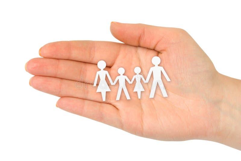 Familia de papel a disposición foto de archivo