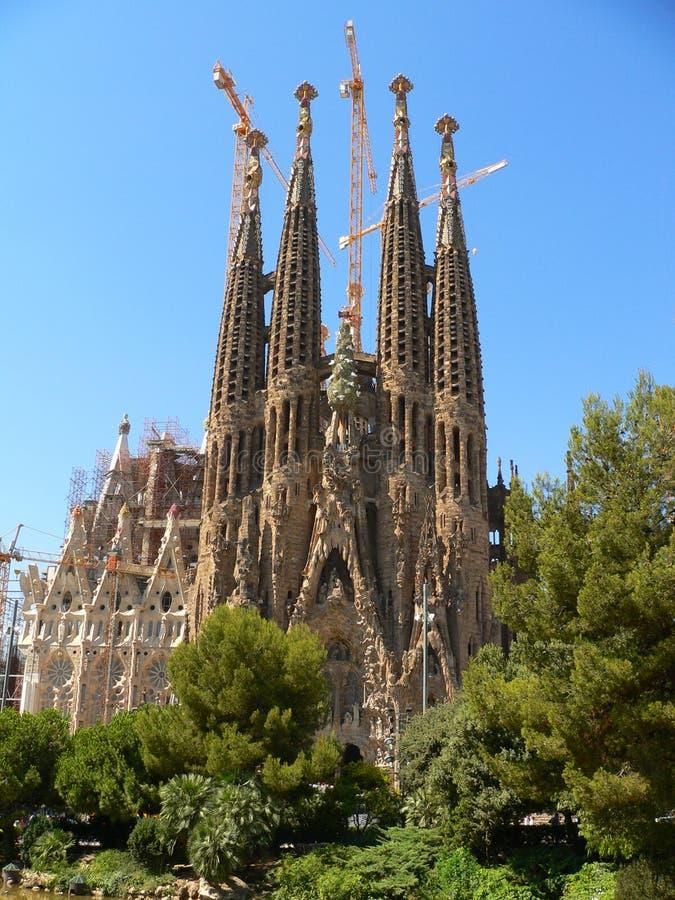 Familia de Sagrada, Barcelona imagem de stock royalty free