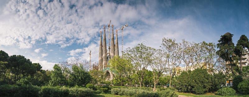 Familia de Sagrada, Barcelona foto de stock
