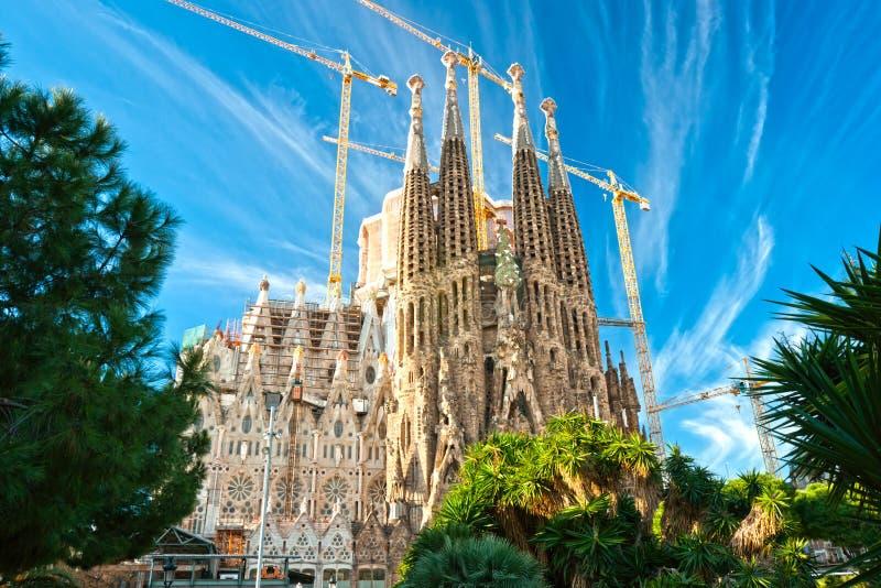 Familia de sagrada de La, Barcelone, Espagne. photo stock
