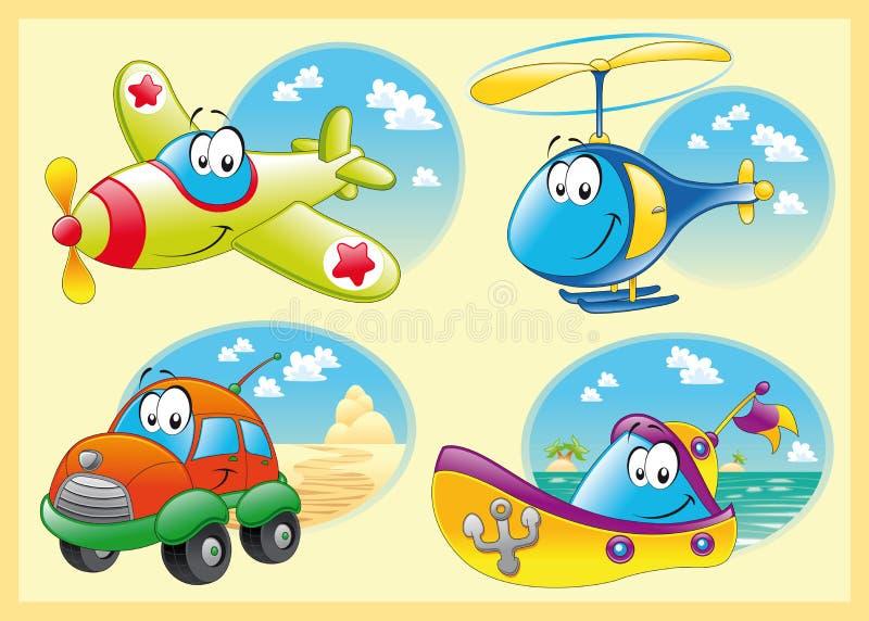 Familia de vehículos stock de ilustración