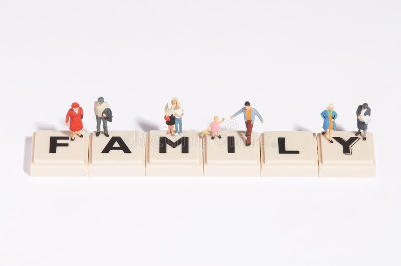 Familia de Wordgames- foto de archivo libre de regalías
