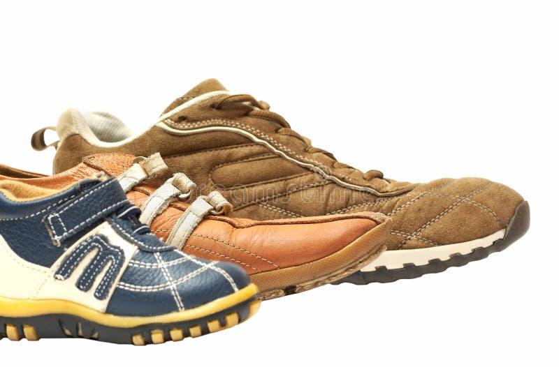 Familia de zapatos fotografía de archivo
