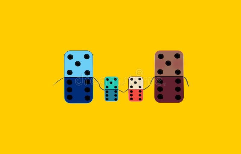 Familia del dominó foto de archivo libre de regalías