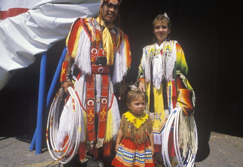 Familia del nativo americano fotos de archivo libres de regalías