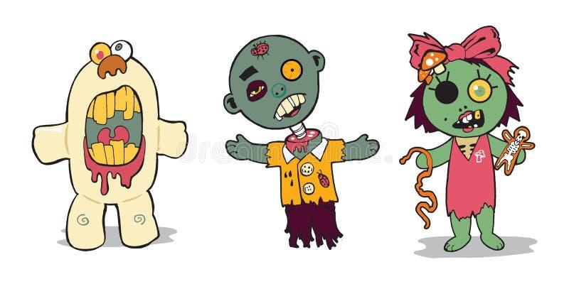 Familia del zombi imagen de archivo