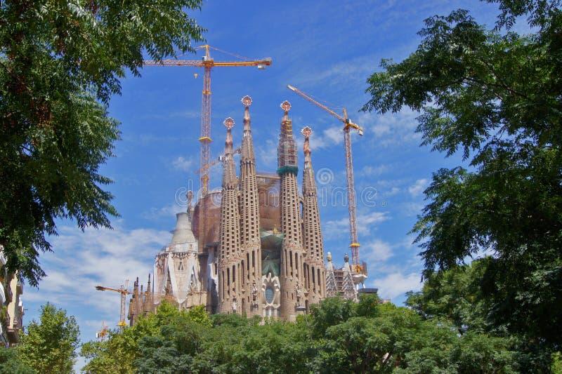 Familia di Sagrada, Barcellona fotografia stock libera da diritti