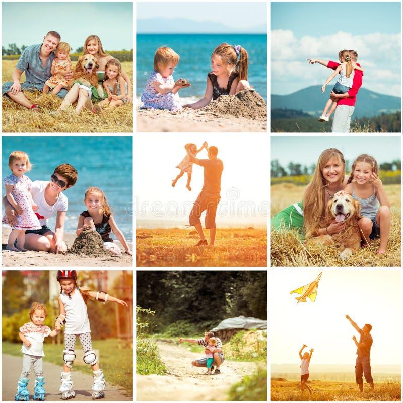 Familia el vacaciones fotos de archivo libres de regalías