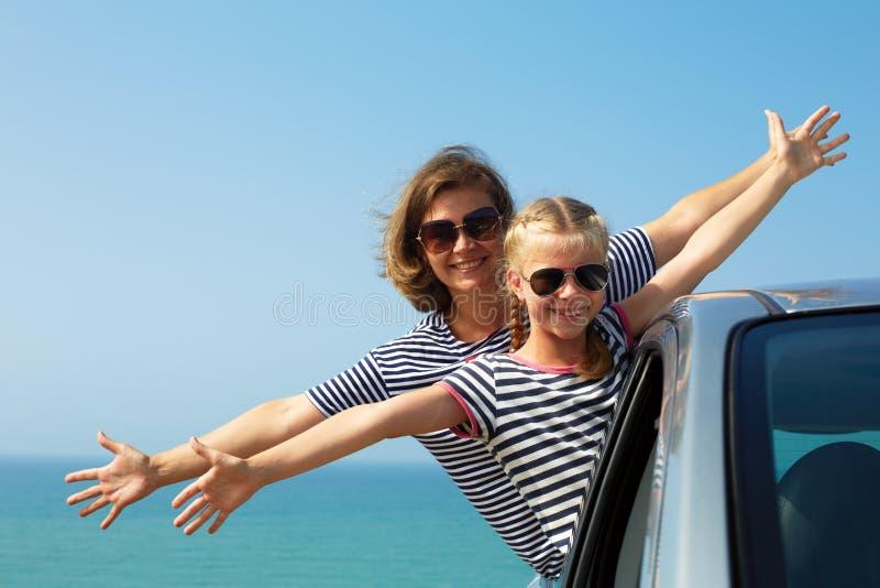 Familia el vacaciones Vacaciones de verano y concepto del viaje en coche imagen de archivo libre de regalías