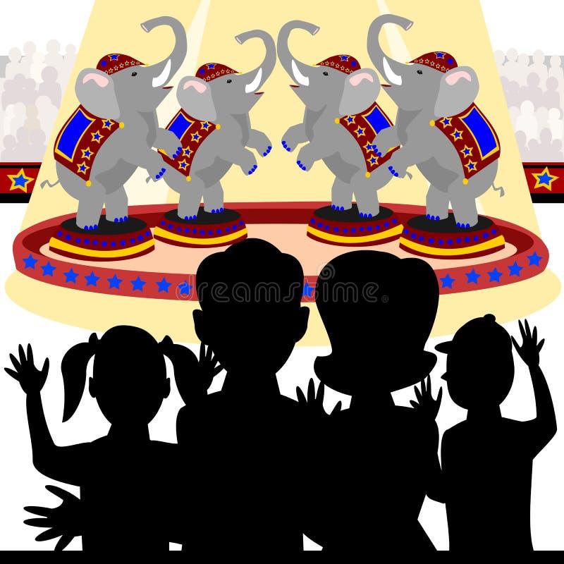 Familia en el circo ilustración del vector