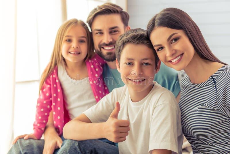 Familia en el país fotos de archivo libres de regalías