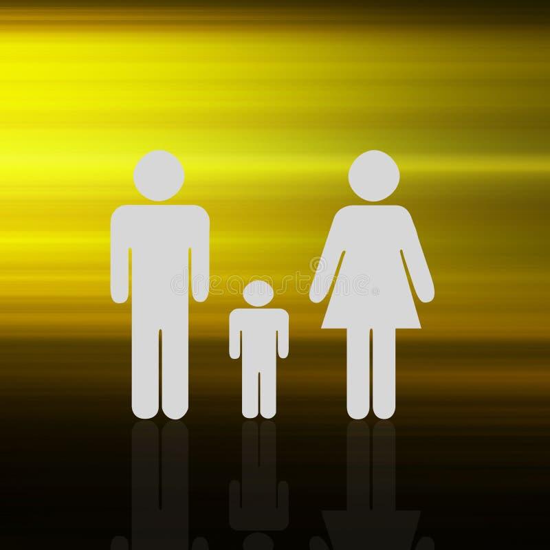 Familia en elegante colorido abstracto en fondo abstracto ilustración del vector