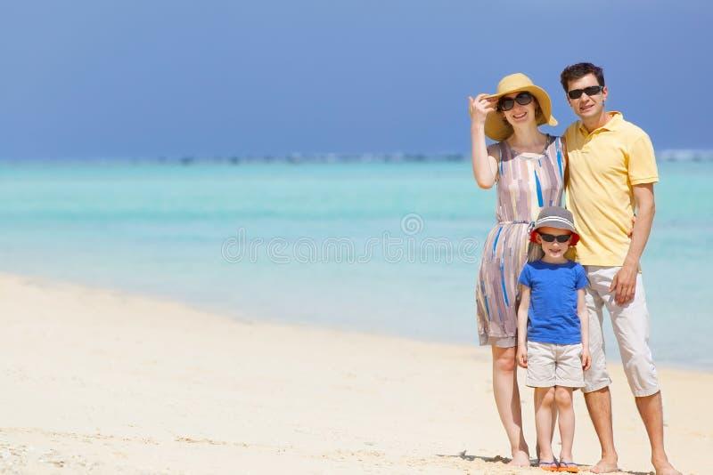 Familia en las vacaciones fotos de archivo libres de regalías