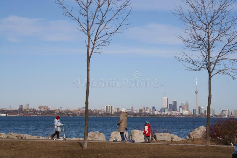 Familia en Toronto imagen de archivo