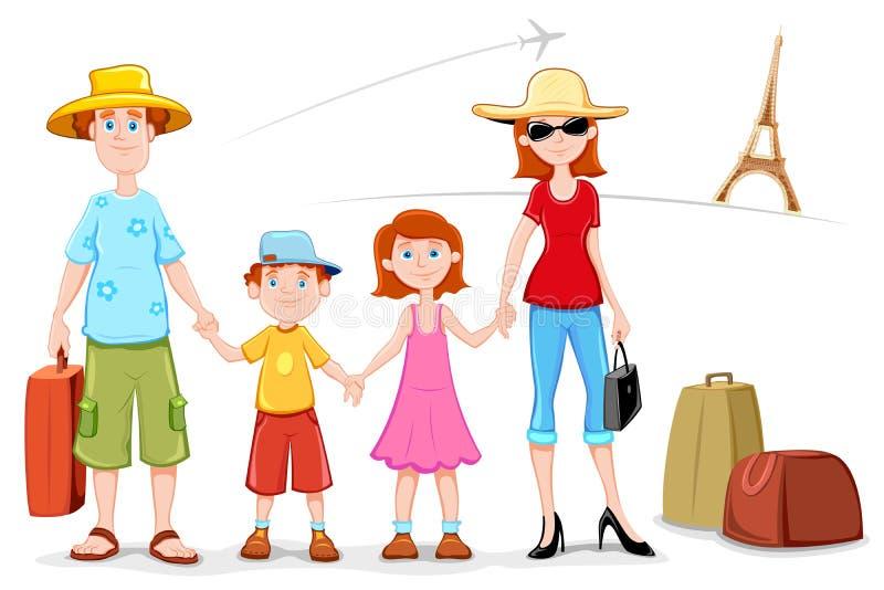Download Familia en viaje ilustración del vector. Imagen de hombre - 20627854
