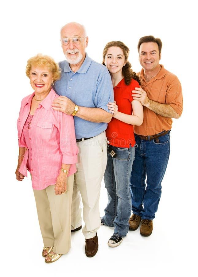 Familia extensa feliz fotografía de archivo libre de regalías