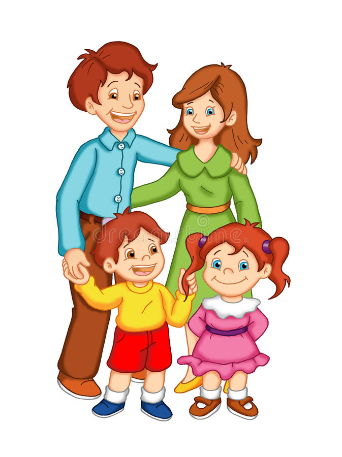 Familia feliz libre illustration
