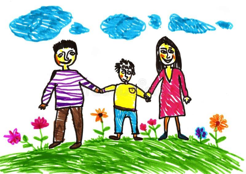 Familia feliz. libre illustration