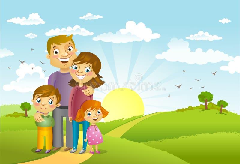 Familia feliz ilustración del vector